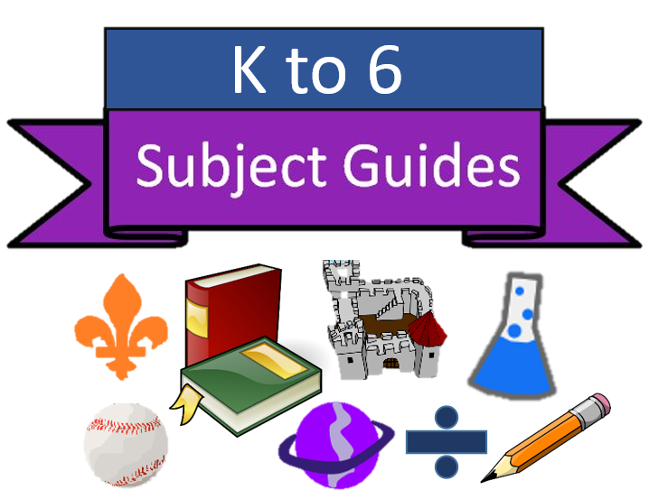 A banner stating: K to 6 Subject Guides