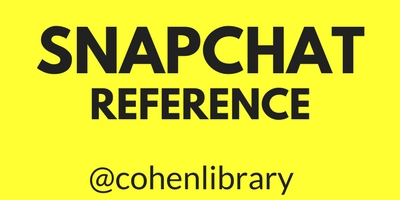 Snapchat Reference with user name @cohenlibrary