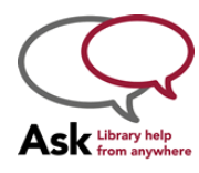 Ask a Librarian Logo that opens up the chat box