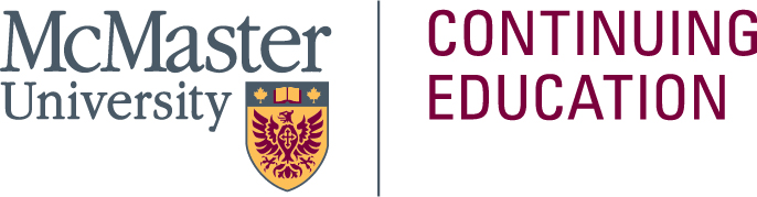 Logo for McMaster University Continuing Education