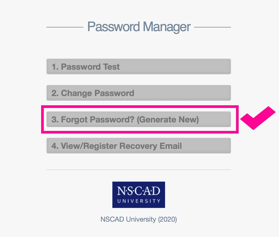 Image of NSCAD University Password Manager
