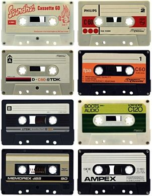 Image of 8 cassette tapes