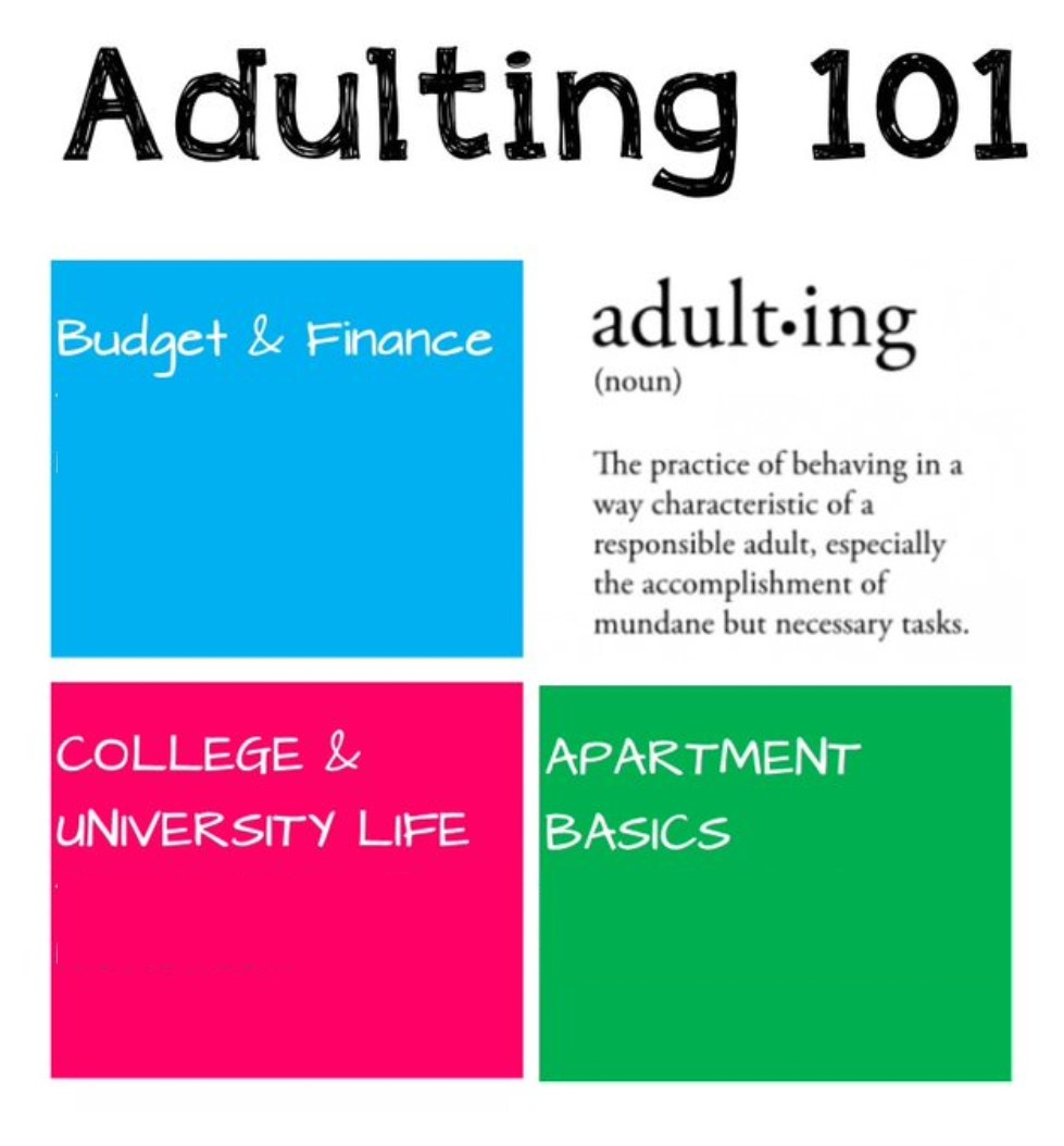 adult-ing 101 graphic