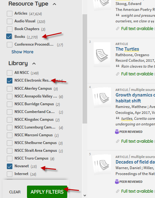 placing limits in library catalogue