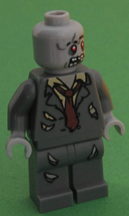 Lego figurine of zombie office worker - Public domain from https://www.flickr.com/photos/pasukaru76/5369527462/