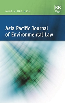 Thumbnail of Asia Pacific Journal of Environmental Law. Click to open the catalog record