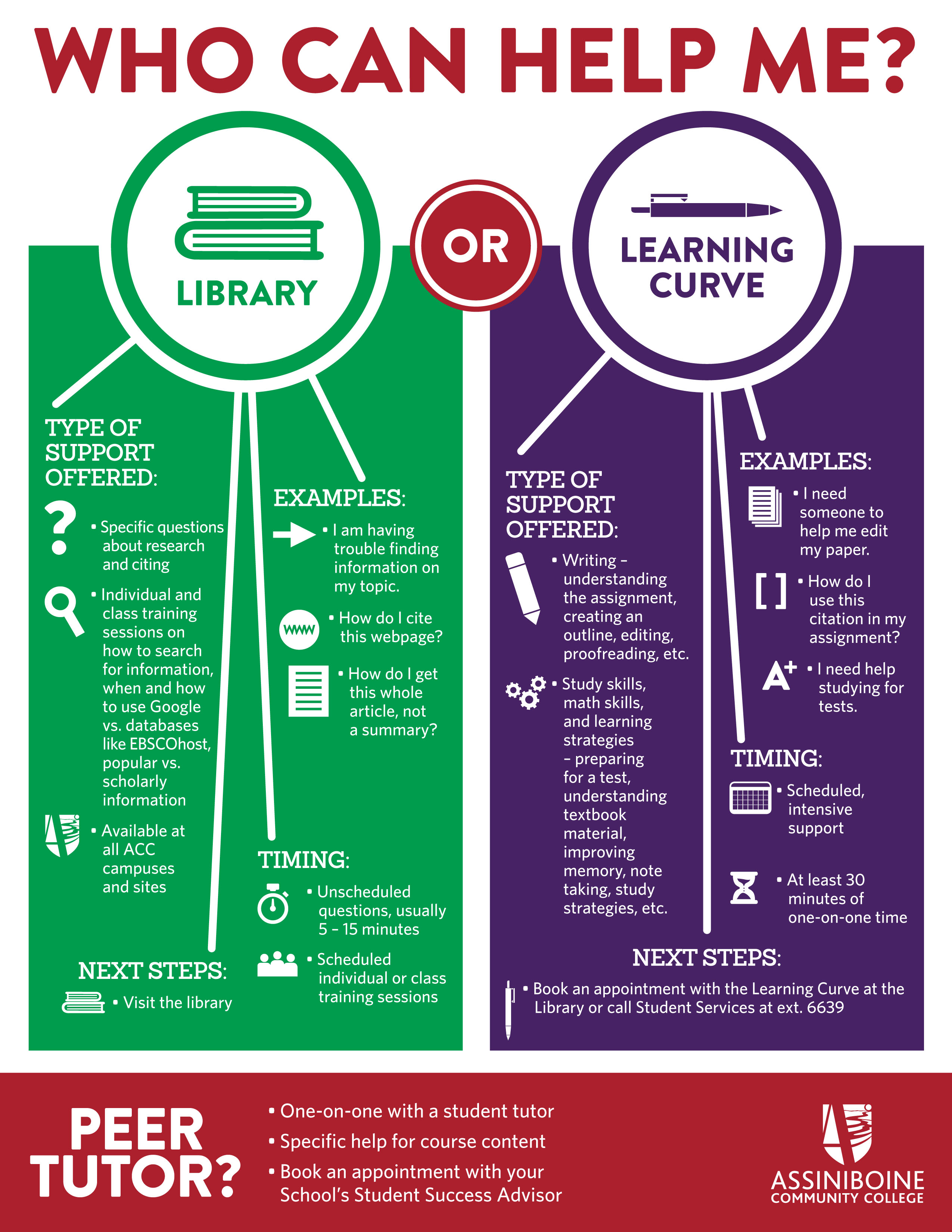 Library and Learning Curve Infographic