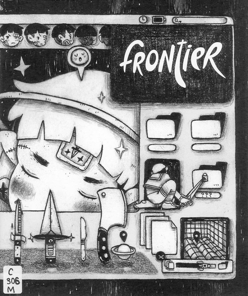 Cover of Frontier Zine by Kelly K