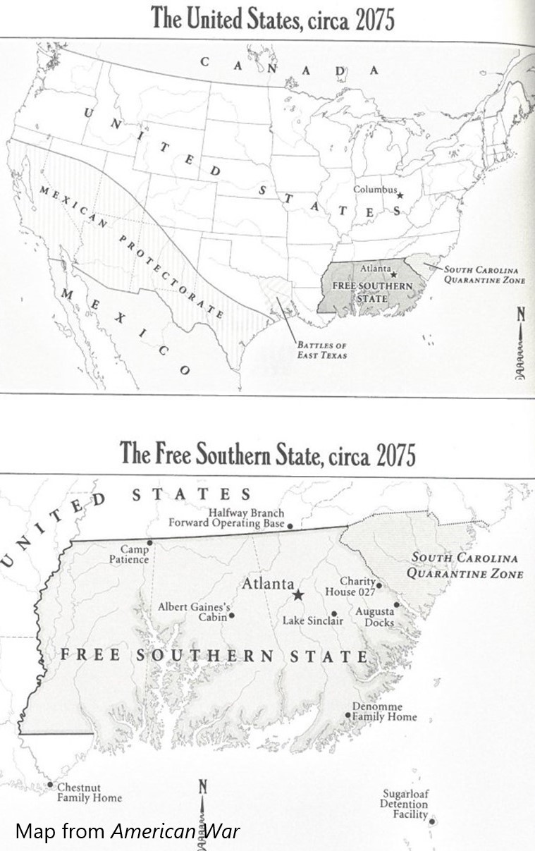 Map from book American War by Omar El Akkad