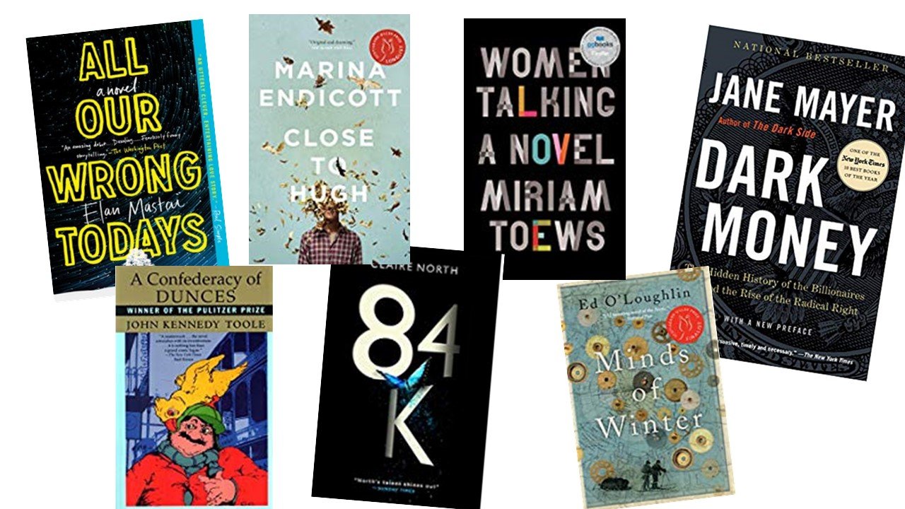 covers of seven books reviewed by library staff