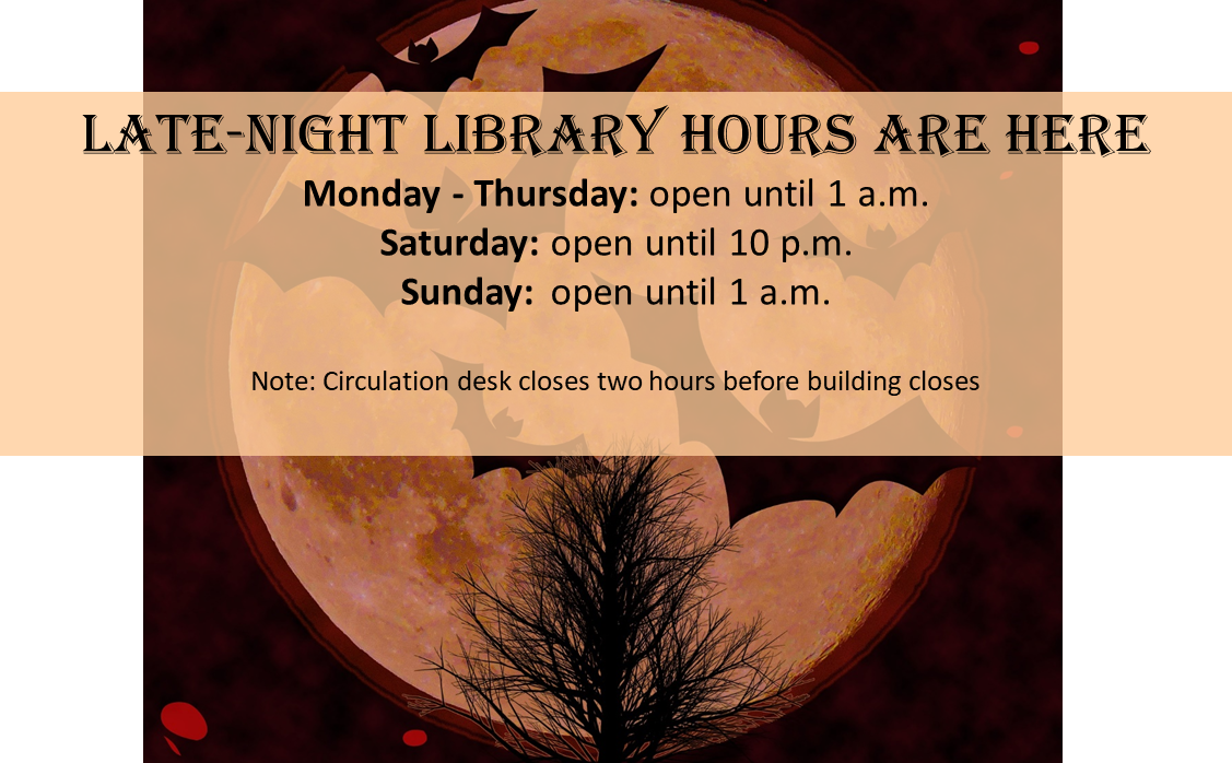 Late-night Library Hours
