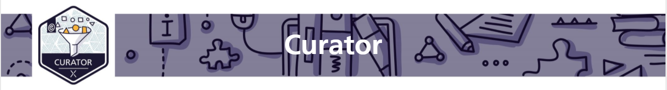 curator module banner with curator badge on left side.