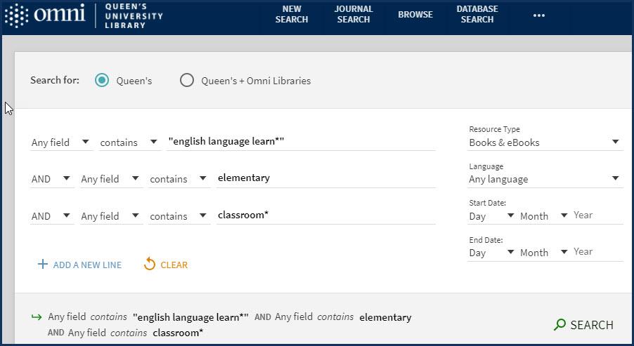 Omni topic search