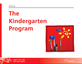 Ontario Kindergarten Program document
