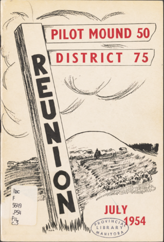 Cover of Pilot Mount 50 District 75 Reunion, July 1954