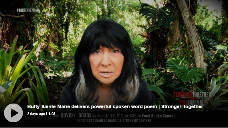 Screen capture image of Buffy Sainte Marie