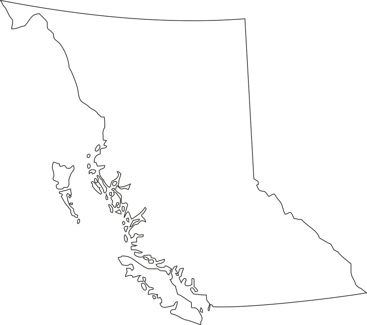 Outline of map of BC