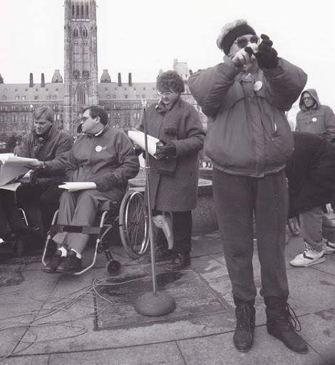 disability rights demonstration parliament hill