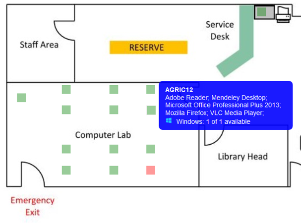 Image of library floorplan