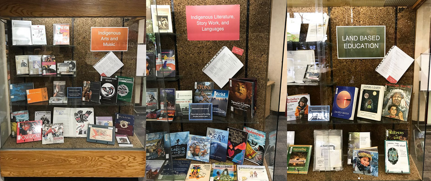 Images of the Ground Floor Displays at OISE Library