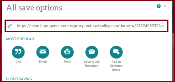 proquest linking how to 2 of 2