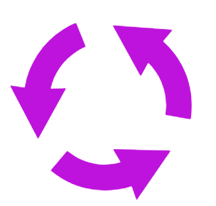 vector graphic of recycling arrows