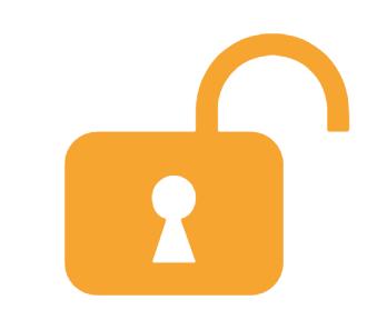 vector icon of open padlock