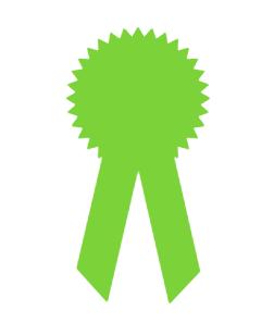 vector icon of award ribbon