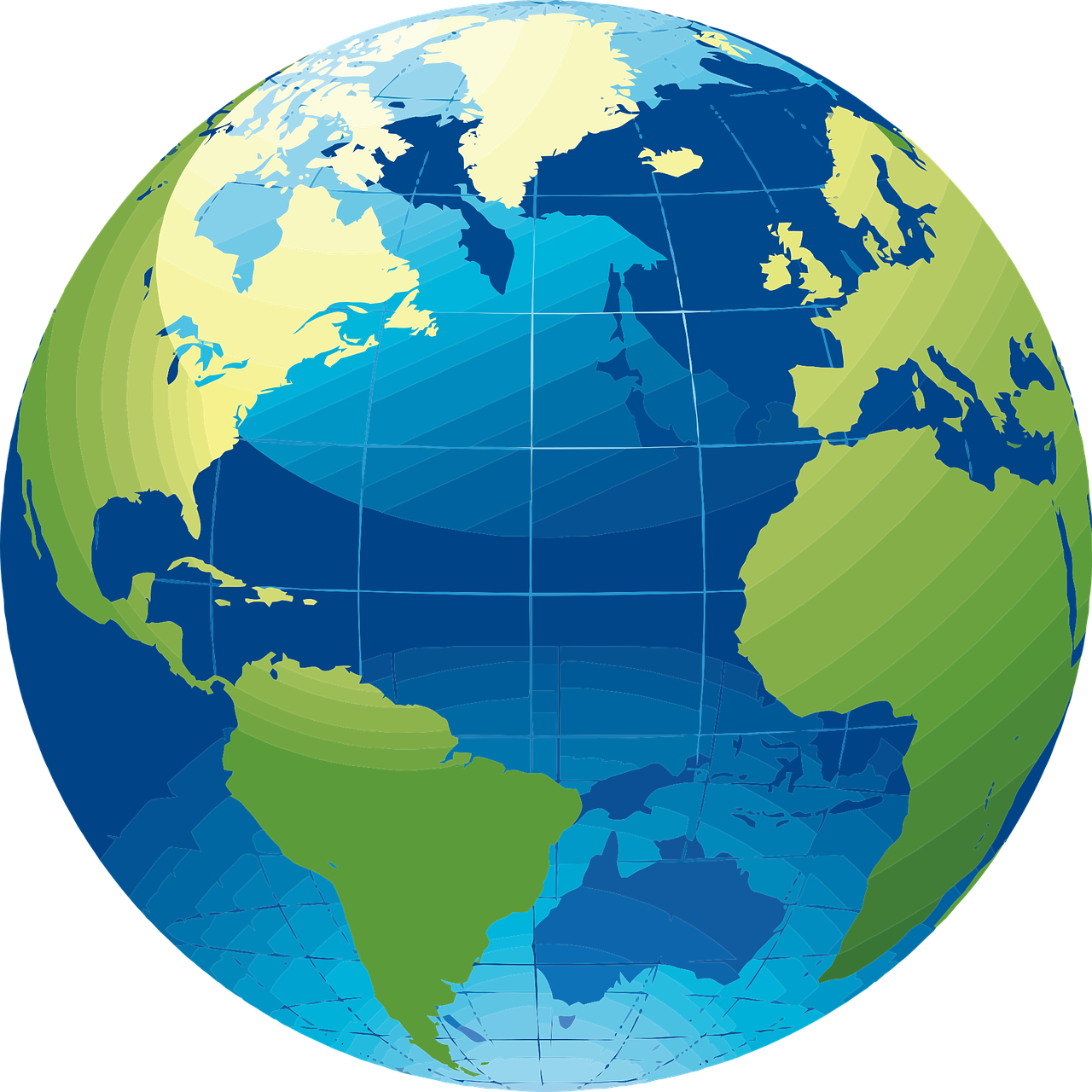 vector image of a globe