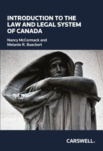 Introduction To The Law & Legal System Of Canada Book Cover