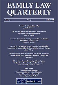 Canadian Family Law Quarterly Journal Cover