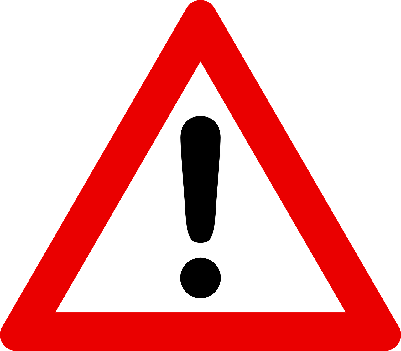 triangle traffic warning sign