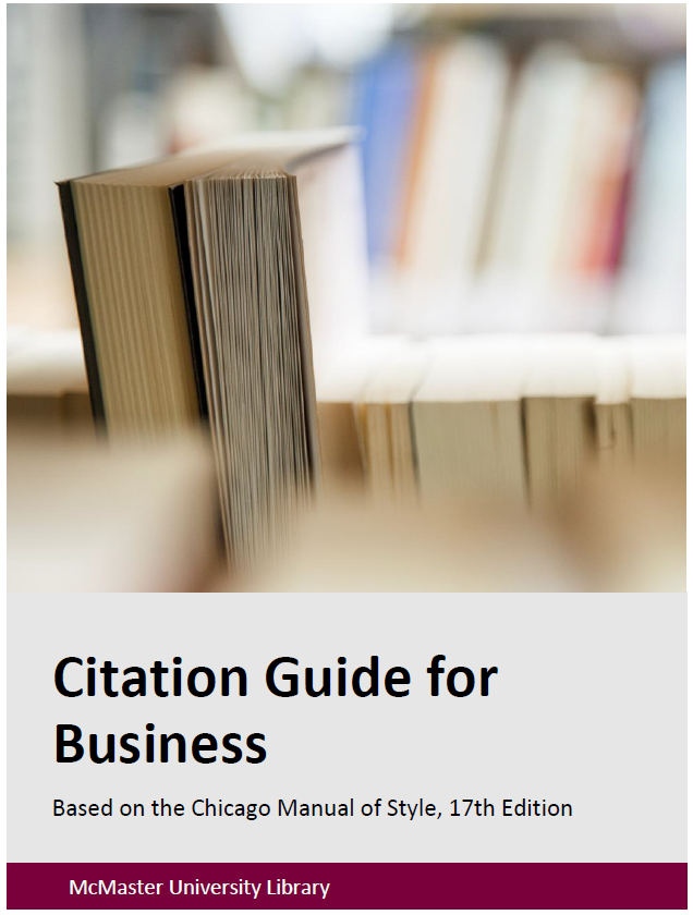 Citation Guide for Business Cover