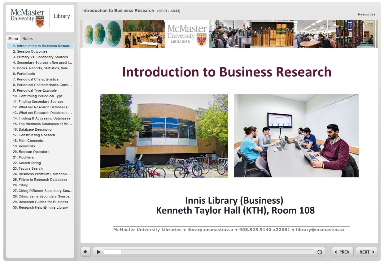 Introduction to Business Research Video Tutorial