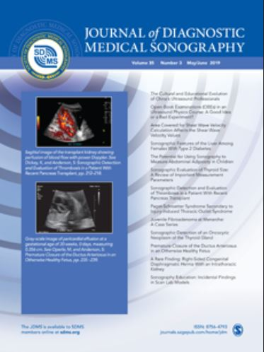 Journal of Diagnostic Medical Sonography (Cover image)