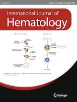 """Cover art for """"International Journal of Hematology"""""""