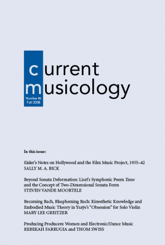 Current Musicology cover art