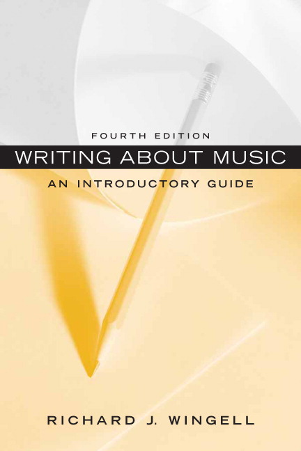 Writing about music : an introductory guide