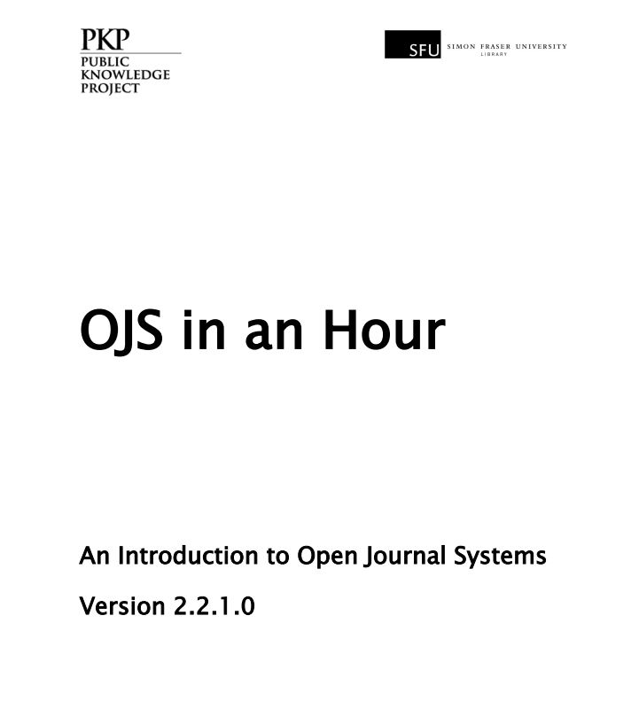 Link to OJS in an hour PDF