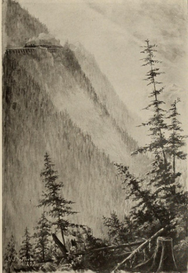 black and white image of mountain