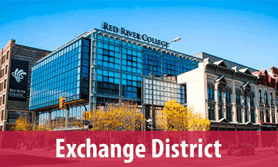 Find a classroom at the Exchange District Campus