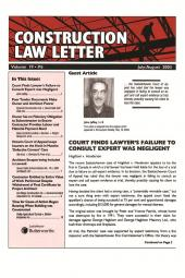 Cover Art for Construction law letter