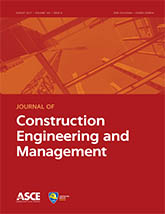 cover art for Journal of Construction Engineering and Management