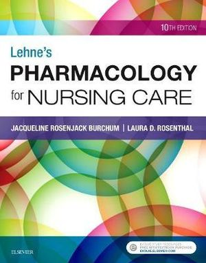 "Cover art for ""Lehne's Pharmacology for Nursing Care"""