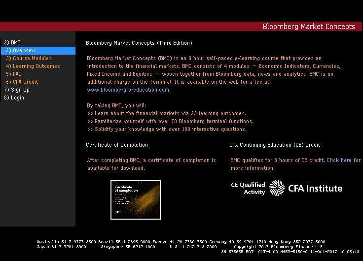 Bloomberg Market Concepts - Using Bloomberg Professional Service ...