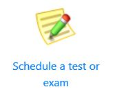 Schedule a test or exam icon