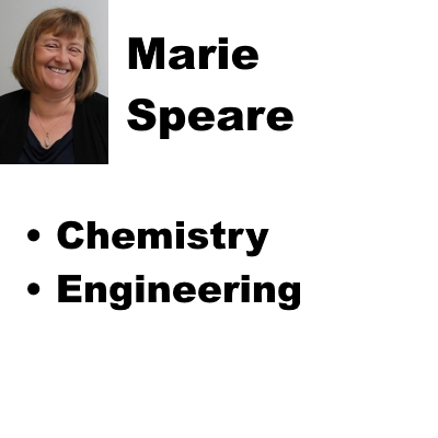 Marie Speare - Chemistry, Engineering