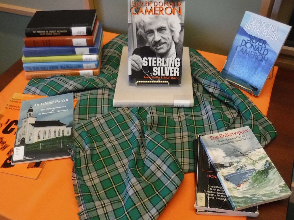 Display of Dr. Cameron's numerous books