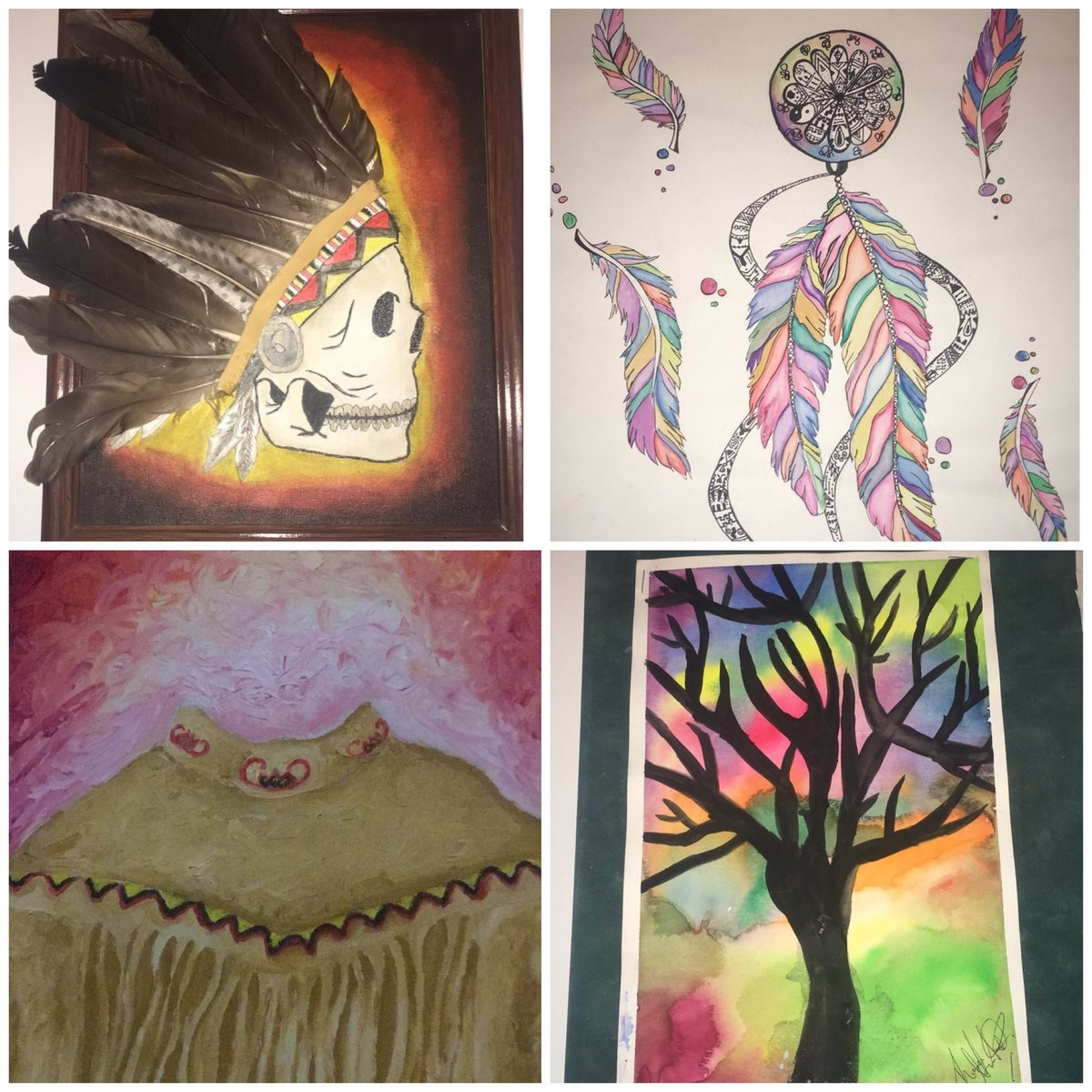 A sample of the artwork on exhibit at CBU