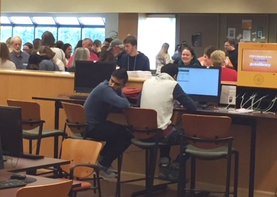 The School of Arts and Social Sciences held their first-year student orientation in the CBU Library